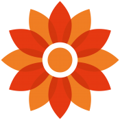 R A Brown logo flower